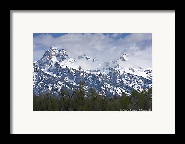 Grand Tetons Framed Print featuring the photograph Skyscapers by Charles Warren