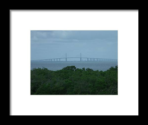 Bridge Framed Print featuring the photograph Skyway by Zack Mann