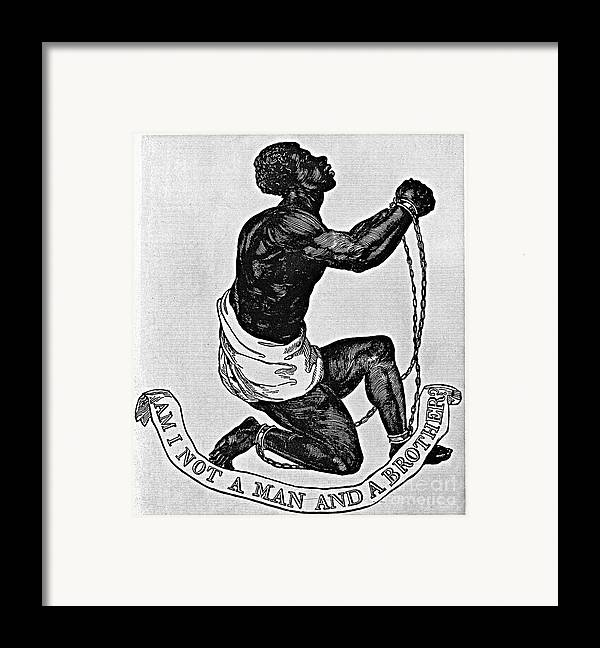 1835 Framed Print featuring the photograph Slavery: Abolition, 1835 by Granger