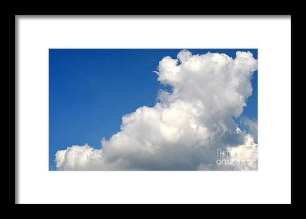 Sleeping Bear Cloud Framed Print featuring the photograph Sleeping Bear Cloud by Maria Urso