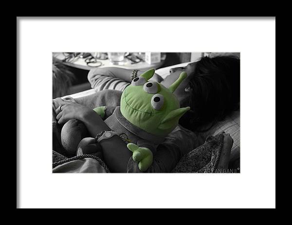 Green Framed Print featuring the photograph Sleeping Beauty by Aryan Ganji