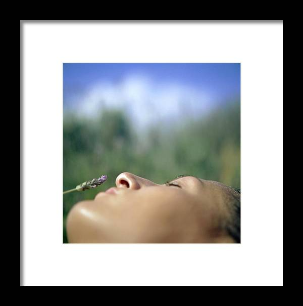 Sleeping Framed Print featuring the photograph Sleeping Woman's Face by Cristina Pedrazzini