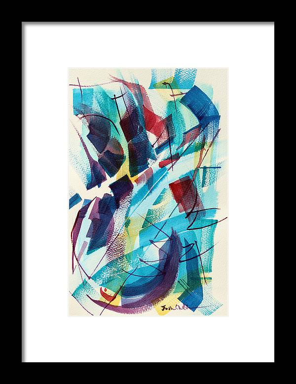 Watercolor Abstract Framed Print featuring the painting Slice. by Josh Chilton