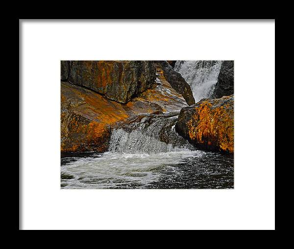 Smalls Falls Rest Area Framed Print featuring the photograph Smalls Falls 12 by George Ramos