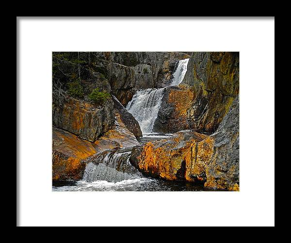 Landscape Framed Print featuring the photograph Smalls Falls 7 by George Ramos