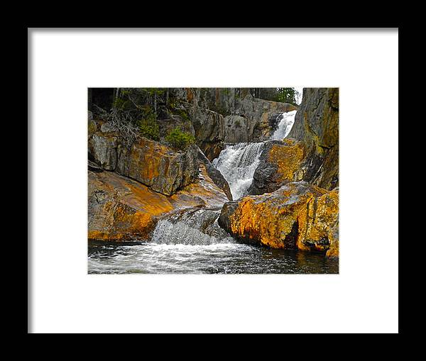 Landscape Framed Print featuring the photograph Smalls Falls 8 by George Ramos