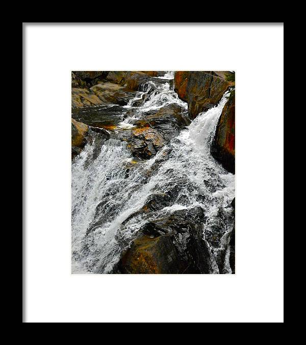 Andscape Framed Print featuring the photograph Smalls Falls Backside by George Ramos
