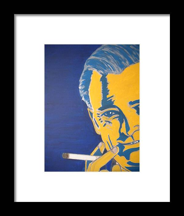 Smoke Framed Print featuring the painting Smokeless by Tom Mendoza