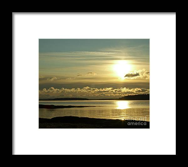 Sunrise Framed Print featuring the photograph Smooth Sky by Brenda Giasson