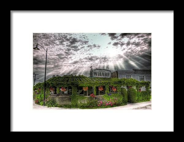Hdr Framed Print featuring the photograph Smugglers Wharf by Brian Fisher