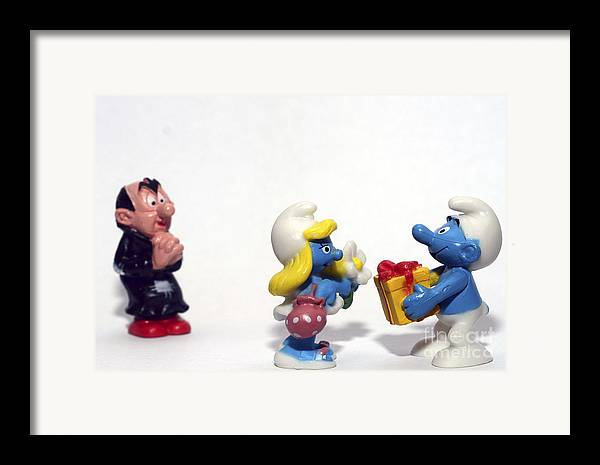 Smurf Framed Print featuring the photograph Smurf Figurines by Amir Paz