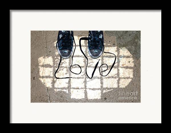 Sneaker Framed Print featuring the photograph Sneaker Love 1 by Paul Ward