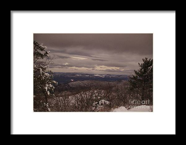 Snow Framed Print featuring the photograph Snow By Moonlight 7049 by Chuck Smith