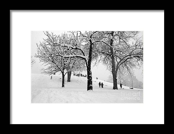 Snow Day Framed Print featuring the photograph Snow Day by Gib Martinez