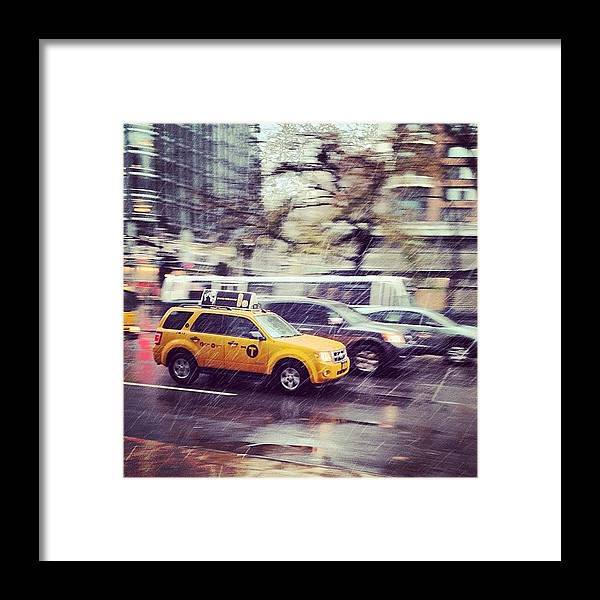 Europe Framed Print featuring the photograph Snow In Nyc by Randy Lemoine