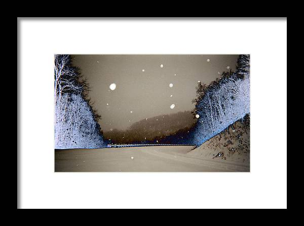 Framed Print featuring the photograph Snow On The Chero Solarized by Regina McLeroy