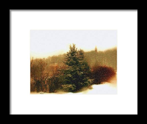 Snow Framed Print featuring the photograph Snow Storm by Darlene Bell