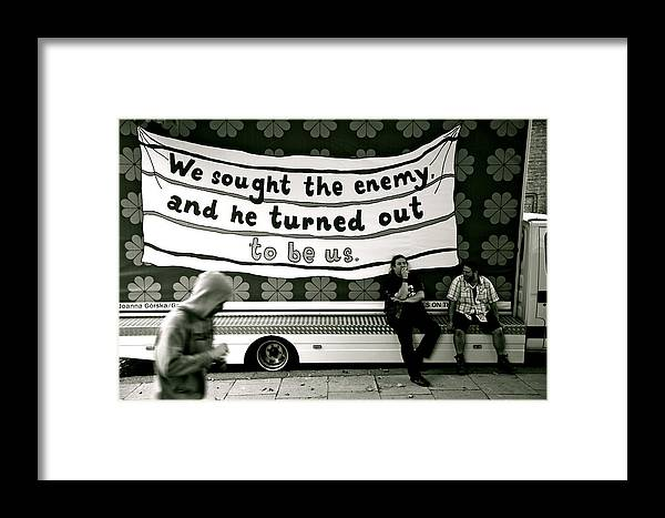 Jezcself Framed Print featuring the photograph so  It's all your fault then by Jez C Self