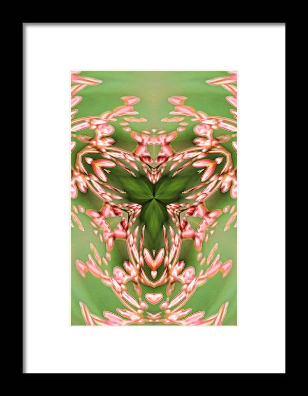 Abstract Framed Print featuring the digital art Social Event Abstract by Linda Phelps