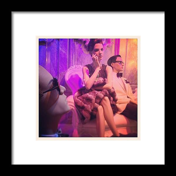 Europe Framed Print featuring the photograph Socialites by Randy Lemoine