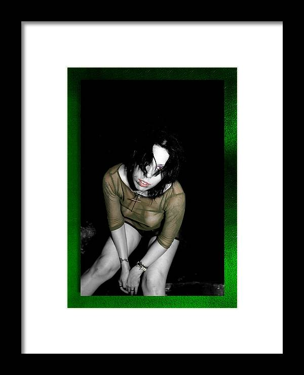 Green Framed Print featuring the photograph Solace by Swav Jusis