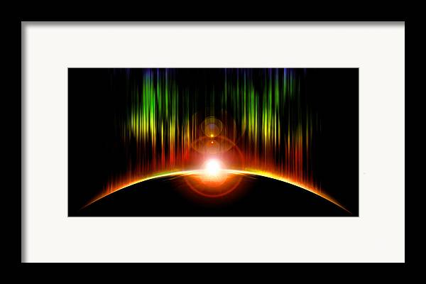 Abstract Framed Print featuring the digital art Solar Eclipse by Svetlana Sewell