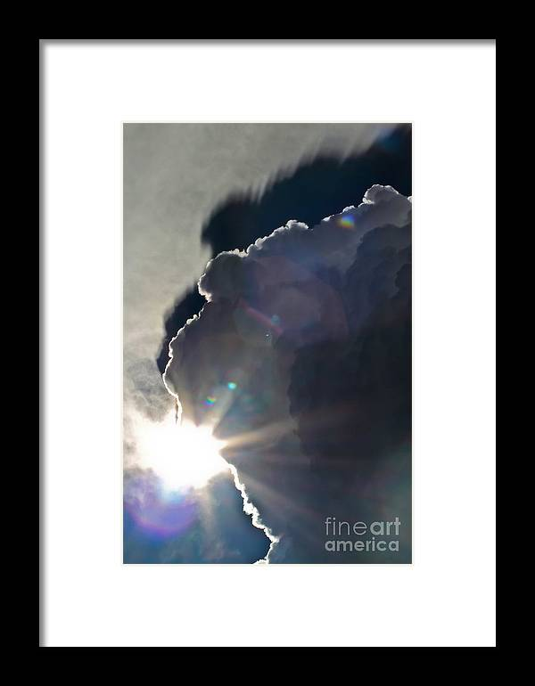 Solar Flare Framed Print featuring the photograph Solar Flare by Mitch Shindelbower