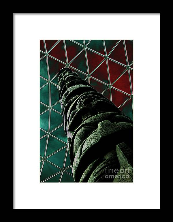 British Museum Framed Print featuring the photograph Solarised Totem Pole by Urban Shooters