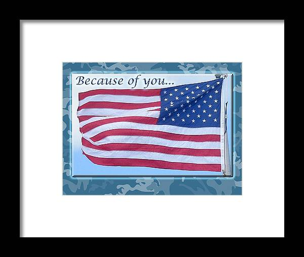 Soldier Framed Print featuring the photograph Soldier Veteran Thank You by Mother Nature