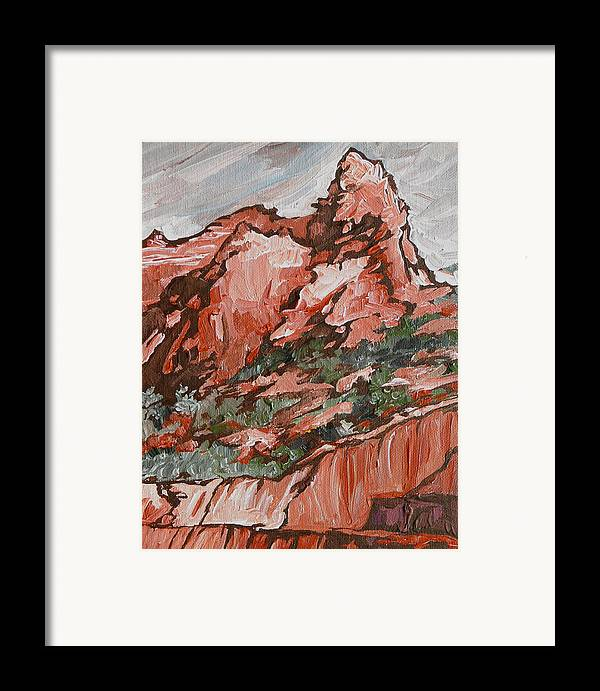 Sedona Framed Print featuring the painting Soldiers Pass Trail by Sandy Tracey