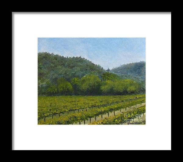 Winery Framed Print featuring the painting Solis Winery by Jeanie Watson
