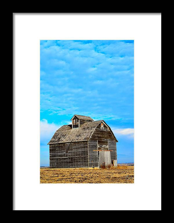 Nebraska Barn Framed Print featuring the photograph Solitude In The Country No.2 by Christine Belt