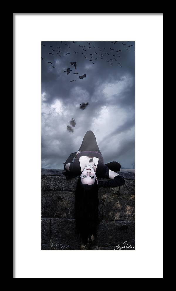Vampire Framed Print featuring the digital art Solitude Of A Vampire by Adro Von Crow