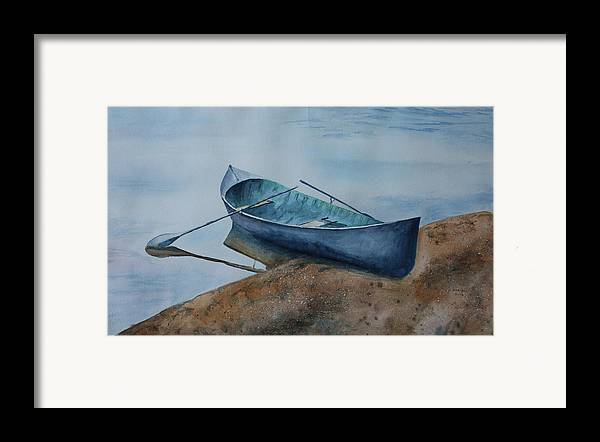 Canoe Framed Print featuring the painting Solitude by Patsy Sharpe