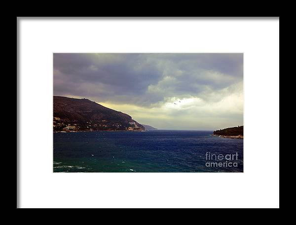 Seascape Framed Print featuring the photograph Somewhere Beyond The Sea 1 by Madeline Ellis