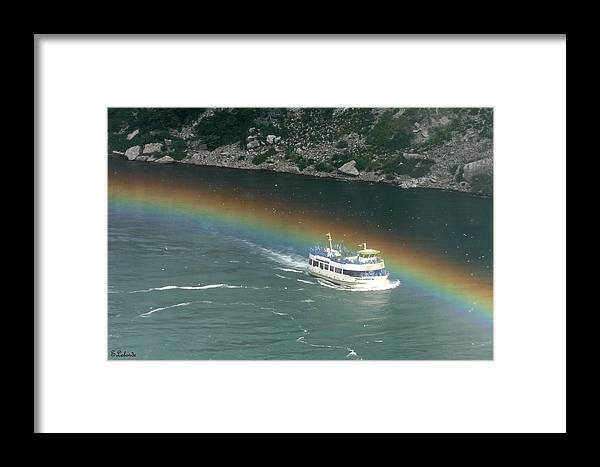 Niagara Framed Print featuring the photograph Somewhere Over The Rainbow by Sarah Lalonde