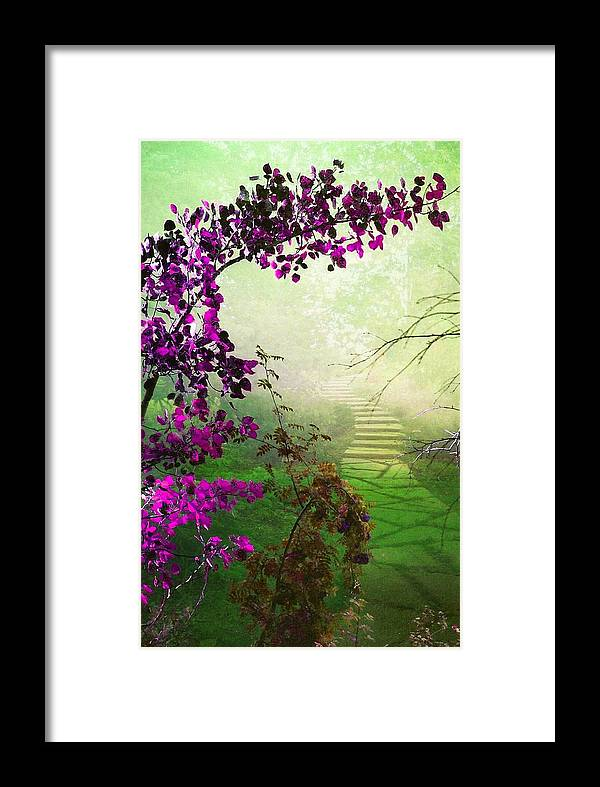 Scenery Framed Print featuring the photograph Somewhere by Shirley Sirois