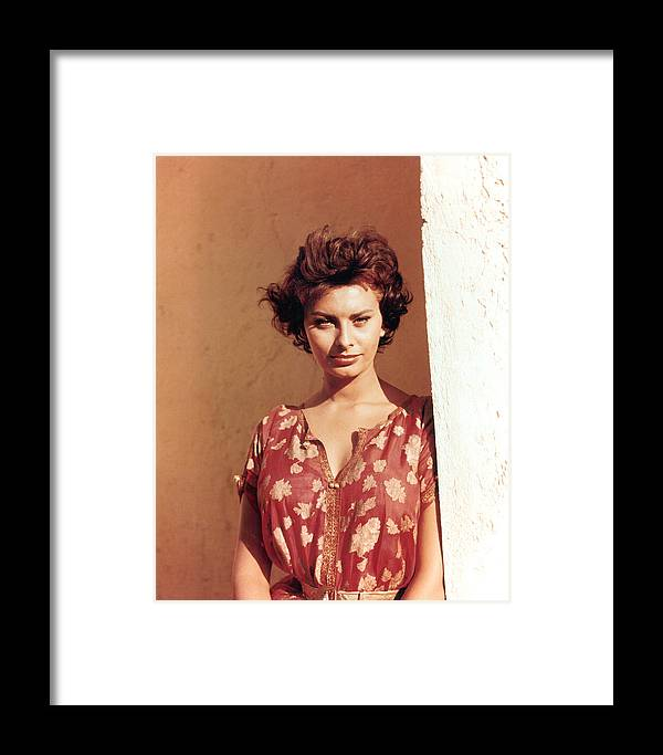 ca1e180cb 1950s Framed Print featuring the photograph Sophia Loren, Legend Of The Lost,  1957 by