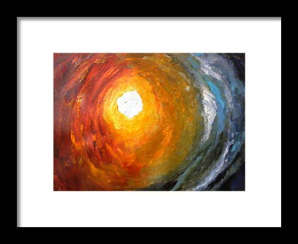 Framed Print featuring the painting Soul by Rajan Panse