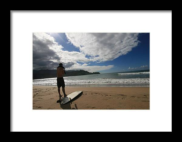 Surf Framed Print featuring the photograph Soul Surfer by Lennie Green