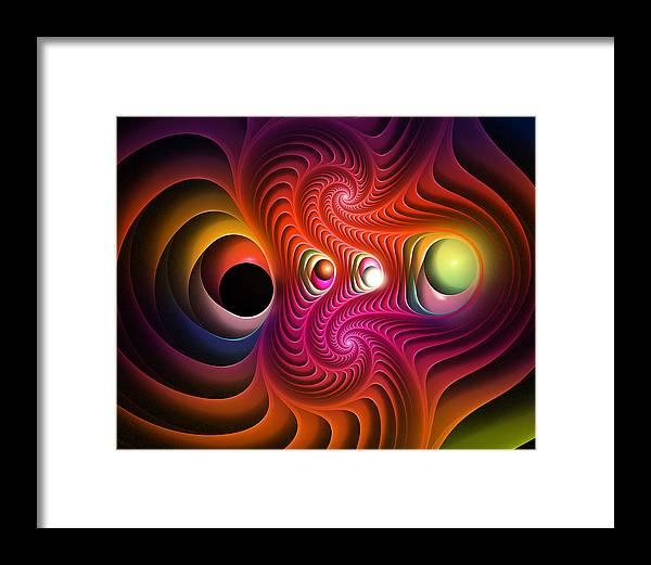 Fractal Framed Print featuring the digital art Soulreavers Th Edit by Drake Lock