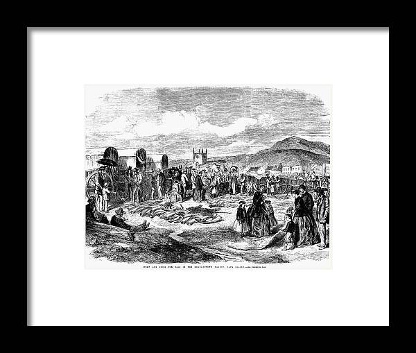 1866 Framed Print featuring the photograph South Africa: Ivory Trade by Granger