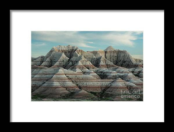 South Dakota Framed Print featuring the photograph South Dakota Badlands National Park by Vivian Christopher