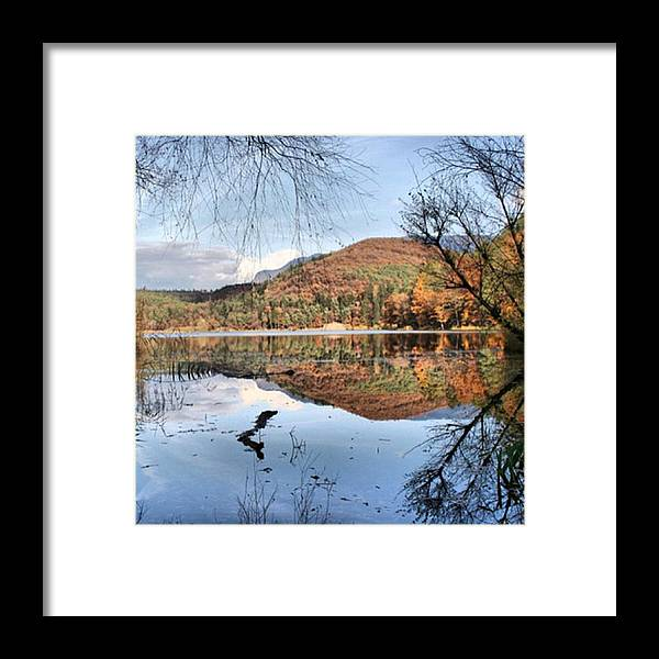 Dolomites Framed Print featuring the photograph South Tyrol- Lake Of Monticolo by Luisa Azzolini