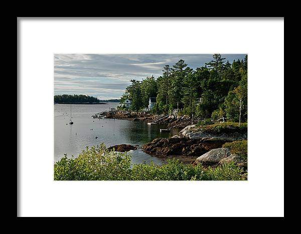 Southport Framed Print featuring the photograph Southport Maine by Lee Fortier