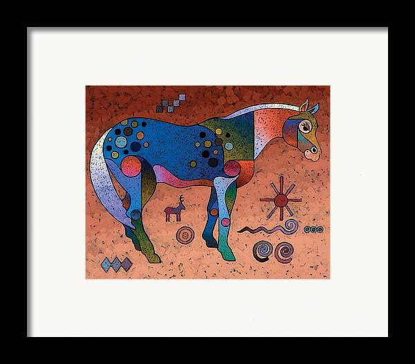 Animal Art Framed Print featuring the painting Southwestern Symbols by Bob Coonts