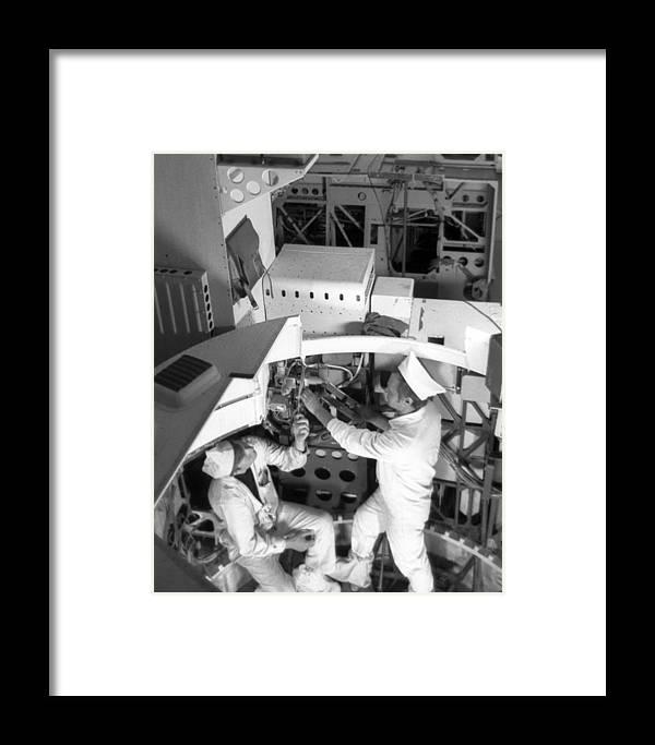 Almaz 1v Framed Print featuring the photograph Soviet Almaz Space Station Construction by Ria Novosti