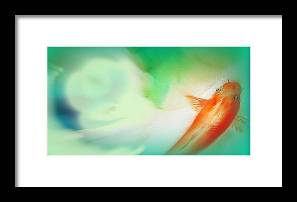 Koi Framed Print featuring the painting Spa Time by Wendy Wiese