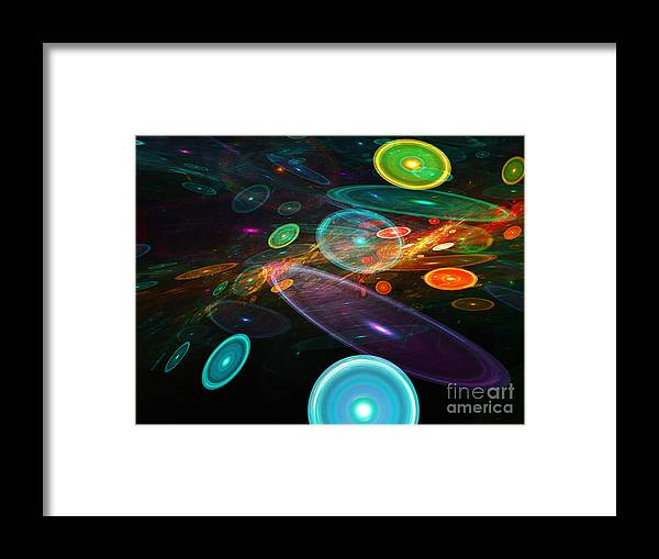 Abstract Framed Print featuring the digital art Space Travel In 2112 by Andee Design