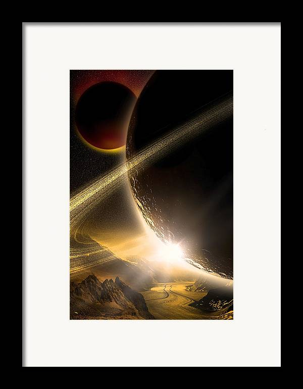 Abstract Framed Print featuring the digital art Space002 by Svetlana Sewell
